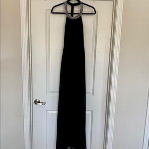 Lulus black beaded maxi dress